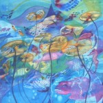Underwater world/ Onderwaterwêreld. 50x44. SOLD
