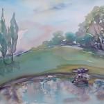 Fountain / Fontein, La Prade, Villasavary. 62x52. Framed R5000