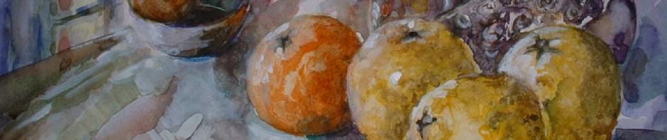 Watercolour paintings – poems – exhibitions – waterverwe