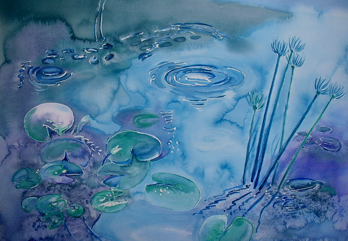 Vywer - Pond. 68x48 Framed