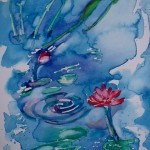 Waterblom - Water flower. 26x18. Framed SOLD